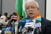 Palestinian National Authority Minister of Foreign Affairs Riyad Al Maliki speaks during a news conference at the Palestine Embassy.