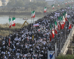 People take part in pro-government rallies in Iran.