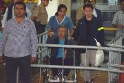 Peruvian dictator Alberto Fujimori, discharged from hospital Thursday, has been transferred to his palatial new home in an exclusive area of the capital.