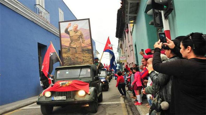 El objetivo de ese recorrido fue trasladar a las tropas rebeldes desde Santiago de Cuba hasta La Habana.