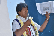 Bolivia's President Evo Morales speaks during a ceremony in Cochabamba, Bolivia, November 30, 2017.