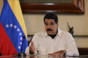 Nicolas Maduro speaks during a meeting with ministers at Miraflores Palace in Caracas, Venezuela August 12, 2016.