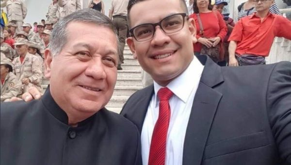 Venezuelan National Constituent Assembly member Tomas Lucena (R) was shot dead Wednesday afternoon.
