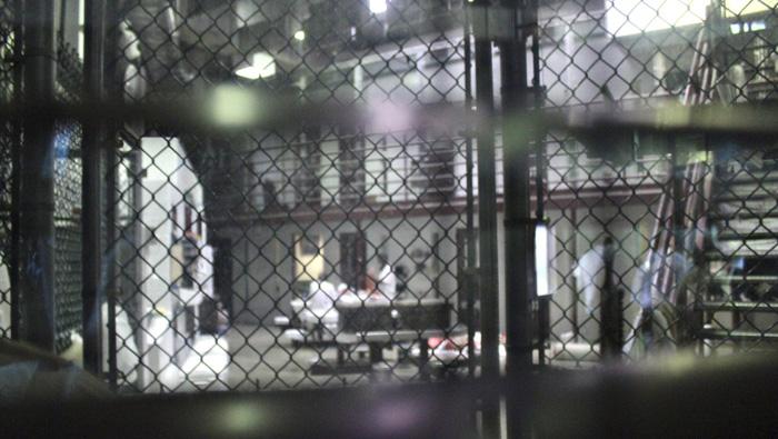 Uno de los pabellones de la prisión militar para supuestos terroristas.