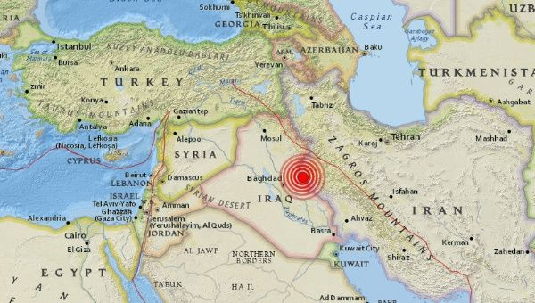 the tremor was felt in both iraq and iran but seems to have not caused any serious damage photo us geological survey