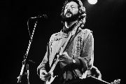Legendary blues guitarist Eric Clapton, now 72, during a concert in 1981.