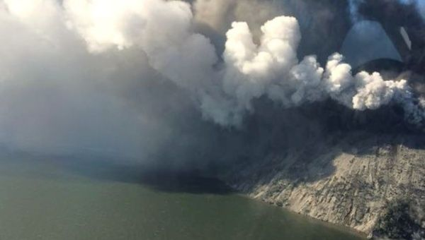 The Rabaul Volcanological Observatory said the volcano had been spewing ash for several days before it blew.