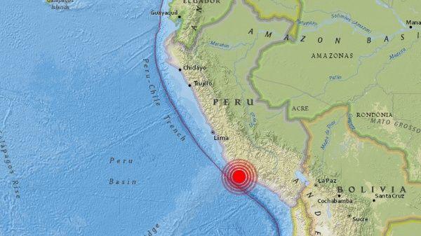 Reportan sismo de 7,1 en zona costera de Perú