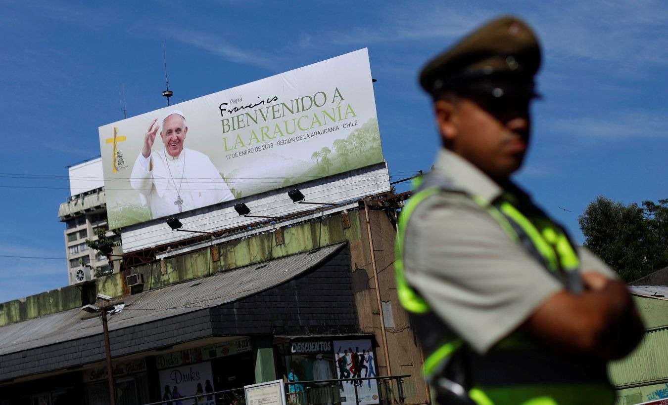 {2=Pope in Chile, Peru, 1=Pope Francis Visits Chile and Peru Amid Protests, Scandals}
