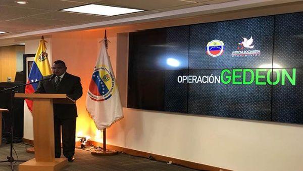 El funcionario venezolano dio detalles sobre el operativo.