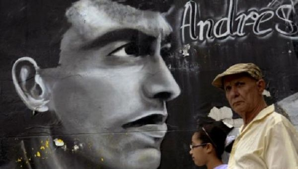 Colombian Atletico National's 27-year-old defenseman who was killed outside a restaurant in Medellin in July 2, 1994.