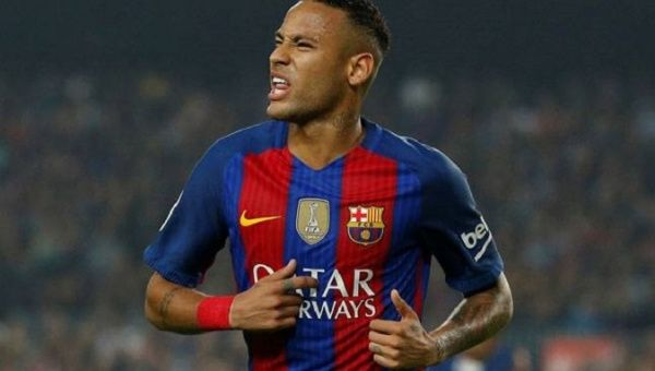 Brazilian forward Neymar, just back from injury, took his season's tally to 15 goals.
