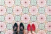 Feet planted on a mosaic in Venice, Paris, Barcelona, then London: these are just a few of the locations depicted in the photo series by Sebastian Erras.