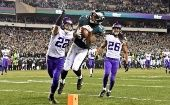The Eagles scored a blow-out 38-7 win over Vikings in the NFC Championship Game.