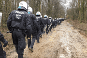 German police enter the Hambach forest.