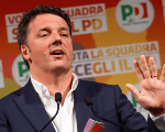 Italy's ruling centre-left Democratic Party (PD) leader Matteo Renzi gestures as he talks during an electoral rally in Rome, Italy February 5, 2018.