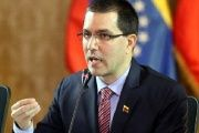 Venezuelan Foreign Minister Jorge Arreaza has condemned Colombia's vow to side with the United States in its opposition to the Venezuelan government.