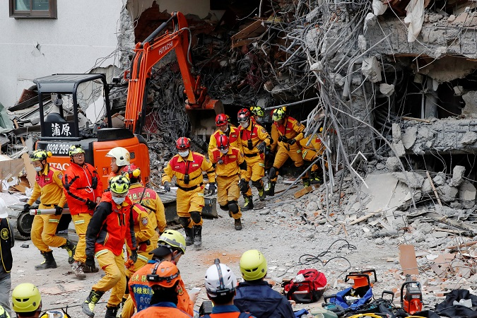 Rescue workers have been working around the clock since the quake hit the city. President Tsai Ing-wen was on the resuce scene this morning.  The president declared the city a disaster area channeling extra resources and personnel to the city to help with its rescue and recovery effortst