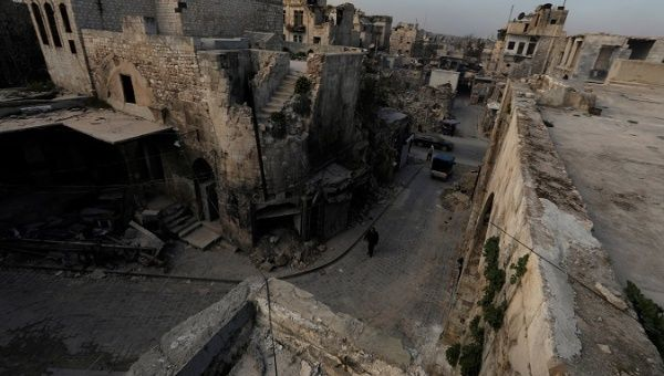 Rubbled city of Aleppo, Syria February 8, 2018