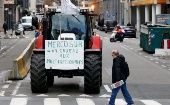 "Farmers protest trade talk in Belgium. ""Mercosur: a gift to multinationals."""