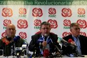 Pablo Catatumbo, member of the FARC political party, speaks during a news conference in Bogota, Colombia Feb. 9, 2018.