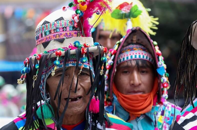 The tradition is kept alive through generations being handed from one to the next. Campesinos and indigenous people participate every year.