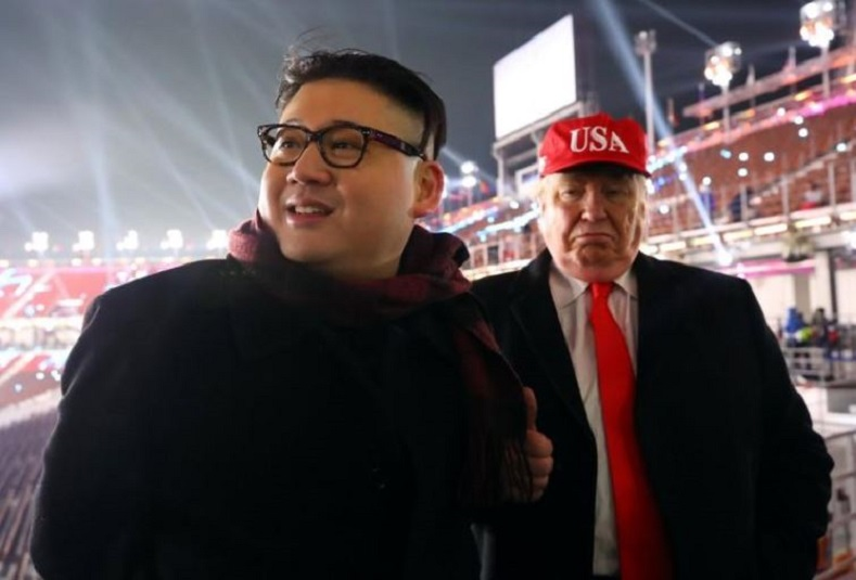 "During the opening celebrations, ""Kim Jong"" and ""Donald Trump"" were escorted out of the stadium. The impersonators refused to reveal their identities, however, they did say they were ""getting along great."""