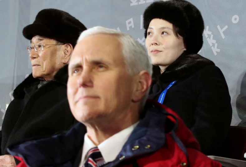 Despite the golden opportunity to obtain peace, neither Vice President Mike Pence (L) nor North Korean president