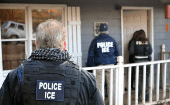 U.S. Immigration and Customs Enforcement (ICE) officers conduct a targeted enforcement operation in Atlanta, Georgia, U.S. on February 9, 2017.