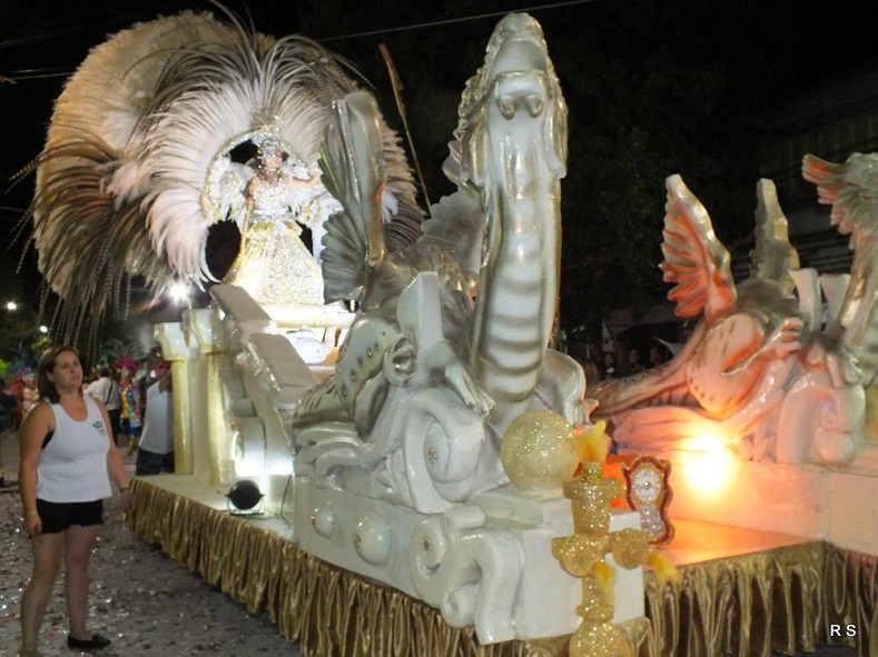A float is seen at the Corrientes Carnival parade.
