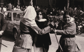Asma Jahangir participates in a protest.
