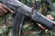 A rebel from Colombia's Marxist National Liberation Army (ELN) shows his weapon in the northwestern jungles, Colombia August 31, 2017.
