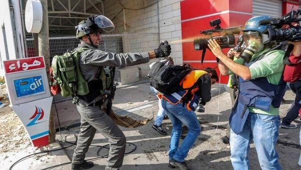 Attacks on reporters have increased since Trump declared Jerusalem as Israeli capital.