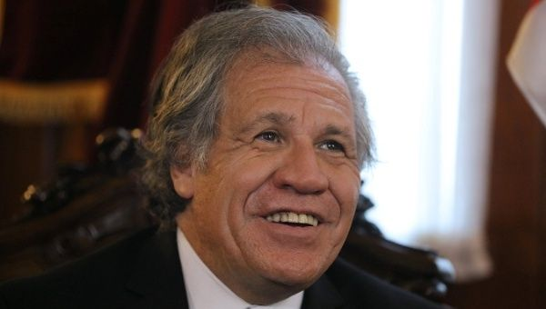 Organization of American States Secretary General Luis Almagro says the OAS hasn