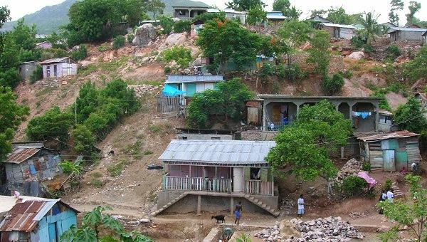 A shanty town in Haiti, one of the many locations across Latin America and the Caribbean that are still plagued by poverty.