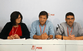 The members of the interim management commission of the Spanish Socialist Workers Party.