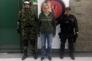 Rafael Antonio Botero Restrepo was arrested by National Army officials in Bogota on Feb. 15, 2018.