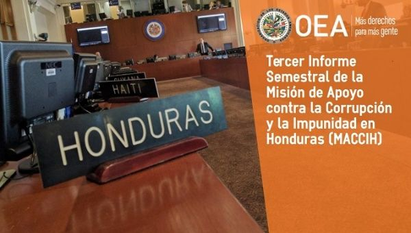 cover image of third OAS Maccih report from Honduras