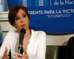 Former Argentine President and Senator Cristina Fernandez de Kirchner speaks during a news conference at the Congress in Buenos Aires, December 7, 2017.