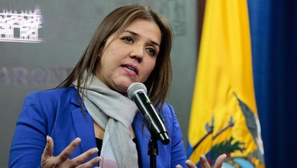 Ecuadorean Vice President, Maria Alejandra Vicuña, rejects attempts to isolate Venezuela and bar the country