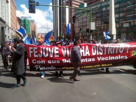 Apoyo popular en Bolivia a candidatura presidencial de  Evo Morales