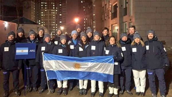Thirty-four Latin American and Caribbean athletes arrived in Pyeongchang, South Korea for the 2018 Olympic Games. Above, the Argentine team poses for a photo.