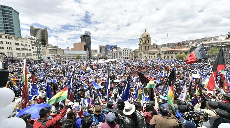 La concentración se formó desde muy temprano y con distintos puntos de encuentro para llegar a la plaza San Francisco, donde se realizó el evento de proclamación.