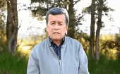 "Pedro Beltran speaks during his twitter video saying that the ELN ""had to dodge confrontation"" by state soldiers in their traditional territory."
