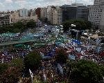 The estimated 400,000-strong rally took over the Argentine capital's main avenue, 9 de Julio, to protest austerity measures.