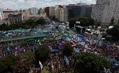 The estimated 400,000-strong rally took over the Argentine capital