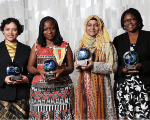Silvia Gonzalez, Germaine Djuidje, Hasibun Naher, and Dawn Iona Fox, 4 of the 5 winners.