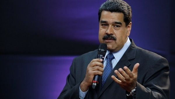 """The president also addressed the """"ridiculous,illegal""""sanctionsagainst the nation, describing the U.S.-led economic war as unprecedented in Venezuela"""