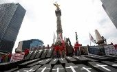 A demonstration on February 18 in Mexico City to mark the anniversary of the explosion of a mine in Pasta de Conchos that killed 65 people.