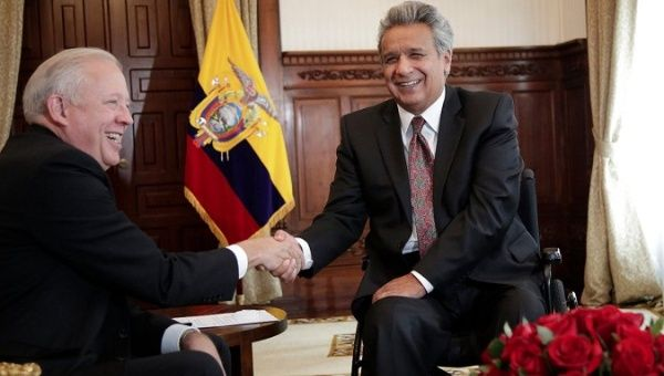 The two met in Quito